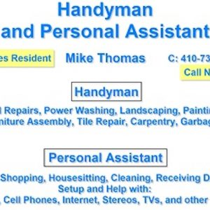 Handyman & Personal Assistant